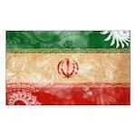 Iran Flag Sticker (Rectangle 10 pk)