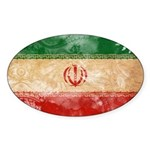 Iran Flag Sticker (Oval 10 pk)