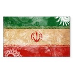 Iran Flag Sticker (Rectangle)