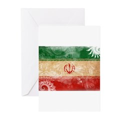 Iran Flag Greeting Cards (Pk of 20)