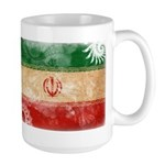 Iran Flag Large Mug