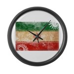 Iran Flag Large Wall Clock