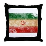 Iran Flag Throw Pillow
