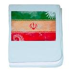 Iran Flag baby blanket