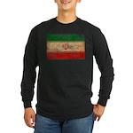 Iran Flag Long Sleeve Dark T-Shirt