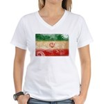 Iran Flag Women's V-Neck T-Shirt