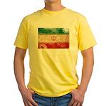 Iran Flag Yellow T-Shirt