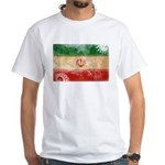 Iran Flag White T-Shirt