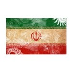 Iran Flag 38.5 x 24.5 Wall Peel