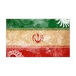 Iran Flag 38.5 x 24.5 Wall Peel