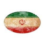 Iran Flag 38.5 x 24.5 Oval Wall Peel