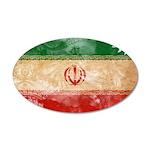 Iran Flag 22x14 Oval Wall Peel