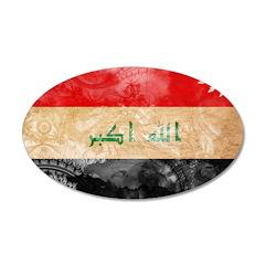 Iraq Flag 22x14 Oval Wall Peel