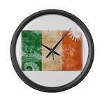 Ireland Flag Large Wall Clock