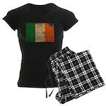 Ireland Flag Women's Dark Pajamas