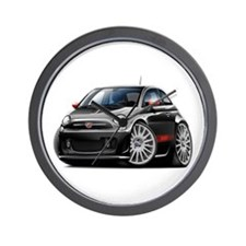 Abarth Black Car Wall Clock