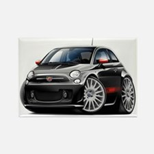 Abarth Black Car Rectangle Magnet
