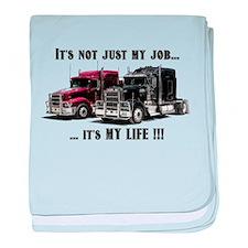 Trucker - it's my life baby blanket