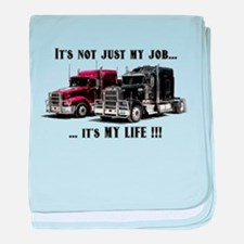 Trucker - it's my life baby blanket