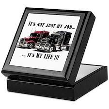 Trucker - it's my life Keepsake Box