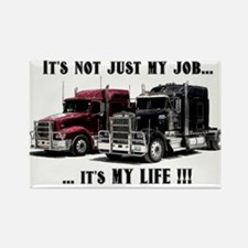 Trucker - it's my life Rectangle Magnet