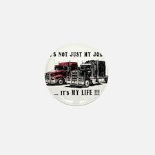 Trucker - it's my life Mini Button