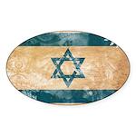 Israel Flag Sticker (Oval 10 pk)