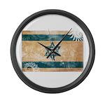Israel Flag Large Wall Clock