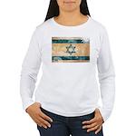 Israel Flag Women's Long Sleeve T-Shirt