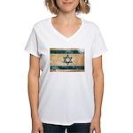 Israel Flag Women's V-Neck T-Shirt