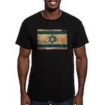 Israel Flag Men's Fitted T-Shirt (dark)