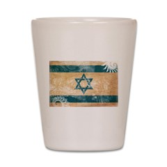 Israel Flag Shot Glass
