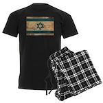 Israel Flag Men's Dark Pajamas