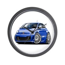 Abarth Blue Car Wall Clock