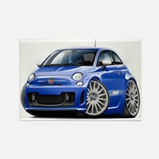 Abarth Blue Car Rectangle Magnet