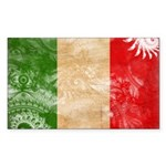 Italy Flag Sticker (Rectangle 50 pk)