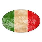 Italy Flag Sticker (Oval 50 pk)