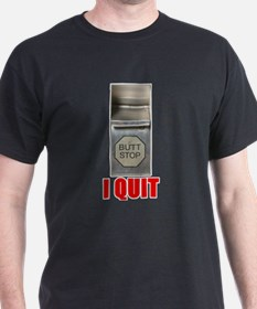 I Quit Smoking Black T-Shirt