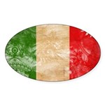 Italy Flag Sticker (Oval 10 pk)