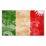 Italy Flag Sticker (Rectangle)