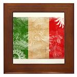 Italy Flag Framed Tile