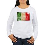 Italy Flag Women's Long Sleeve T-Shirt