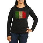 Italy Flag Women's Long Sleeve Dark T-Shirt