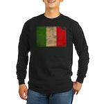Italy Flag Long Sleeve Dark T-Shirt