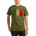Italy Flag Organic Men's T-Shirt (dark)