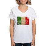Italy Flag Women's V-Neck T-Shirt