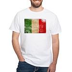 Italy Flag White T-Shirt