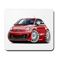 Abarth Red Car Mousepad