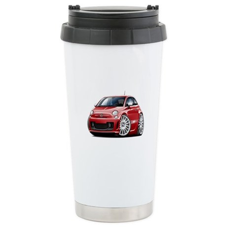 Abarth Red Car Stainless Steel Travel Mug