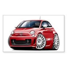 Abarth Red Car Decal